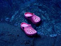 Pink Water Crocs